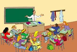 profesor enseñando a sus alumnos en clase