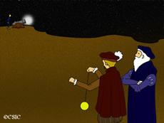 Resultado de imagen de determinación de la velocidad de la luz por Galileo